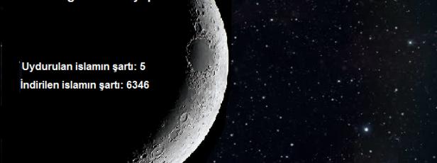 UYDURULAN İSLAMIN ŞARTI : 5 İNDİRİLEN İSLAMIN ŞARTI : 6346 dır.